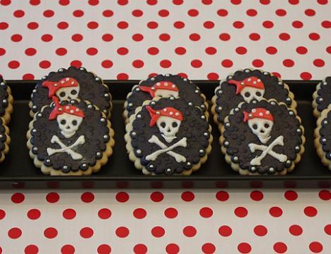 Galleta de bandera pirata