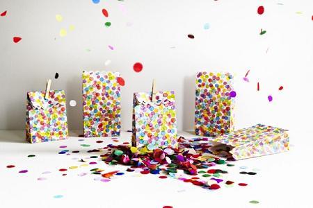 Bolsas de confetti para cumpleaños