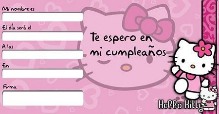tarjetas cumpleanos kitty