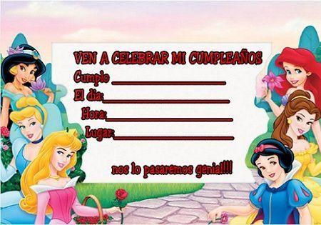 tarjetas cumpleanos princesas grande