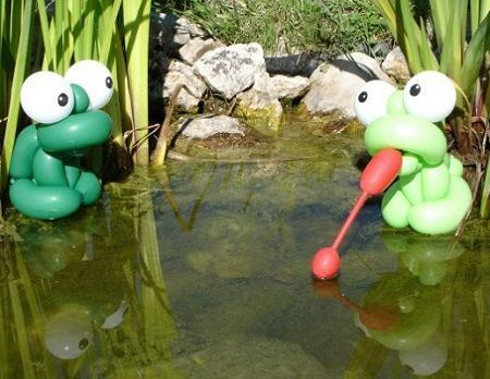 animacion globoflexia ranas