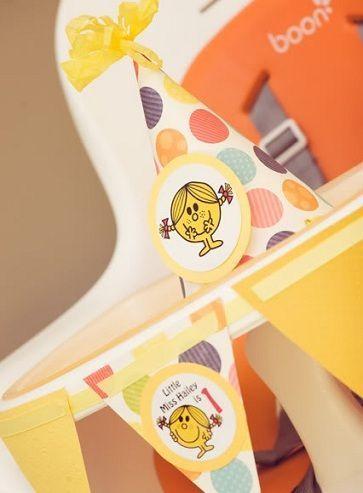 cumpleanos un ano nina amarillo decoracion