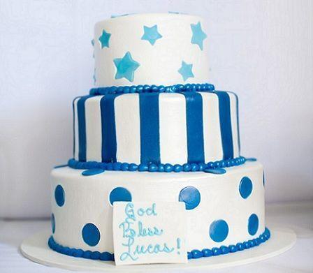 fiesta bautismo tarta