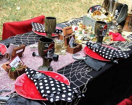 fiesta pirata mesa detalle