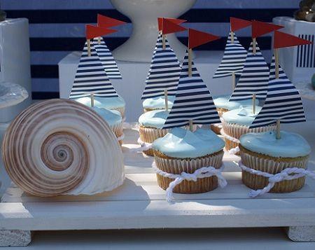 fiestas infantiles marineros cupcakes
