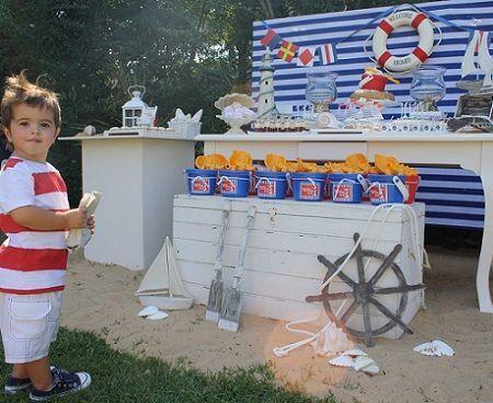 fiestas infantiles marineros mesa completa