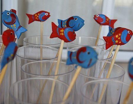 fiestas infantiles marineros vasos