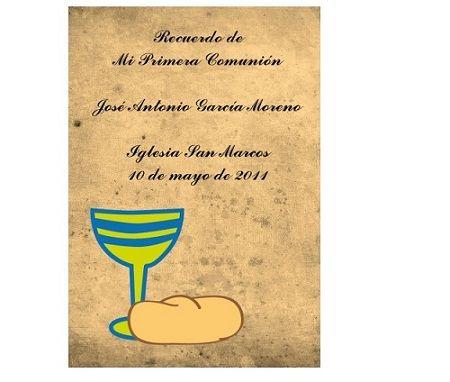 invitaciones comunion originales pergamino