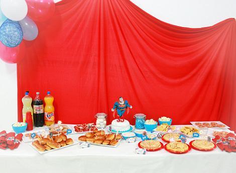 mesa cumpleaños infantil superman