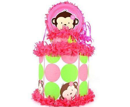 pinatas infantiles mono rosa