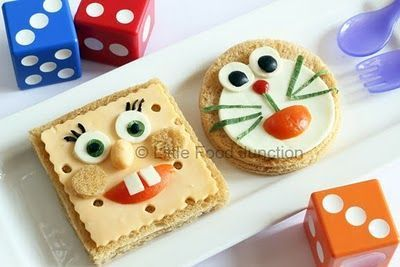 Merienda para cumplea os sandwiches con formas - Preparacion de cumpleanos infantiles ...