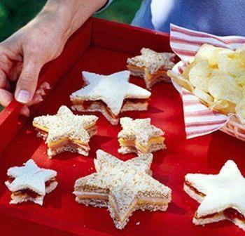 recetas sandwiches formas estrellas