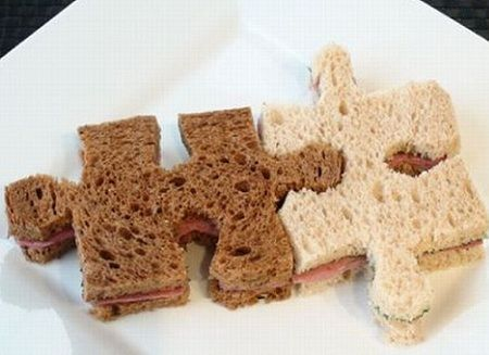 recetas sandwiches formas puzzle