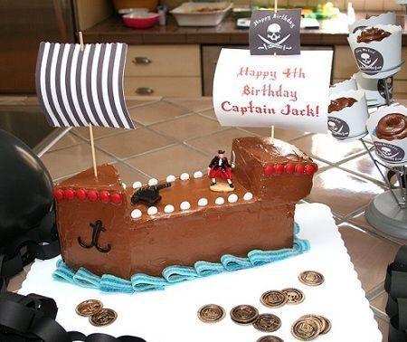 tarta cumpleanos pirata bizcocho
