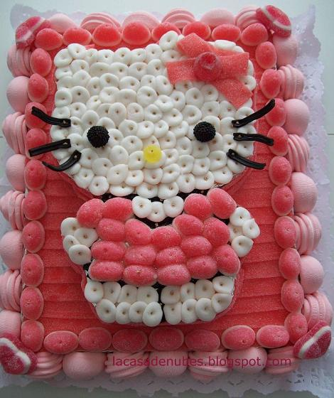 tarta gominolas hello kitty