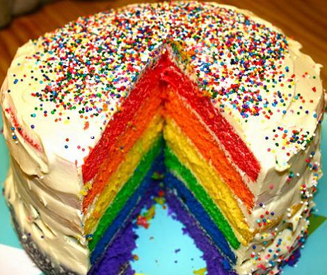 tarta rainbow arcoiris
