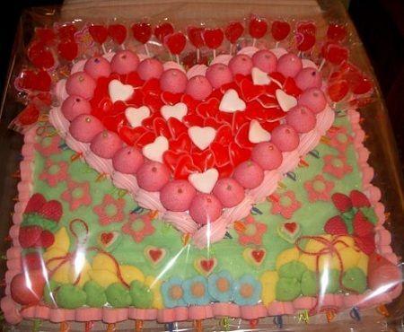 tartas gominolas corazon