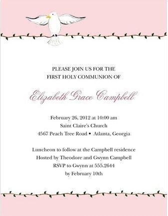 5 invitaciones comunionoriginales palomas
