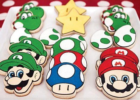 cumpleanos mario bros galletas decoradas