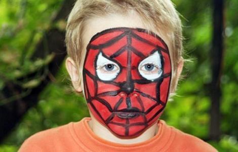 cumpleaños spiderman pintacaras