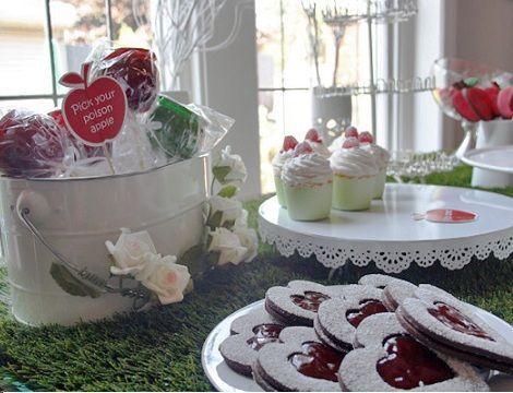fiesta cumpleanos blancanieves dulces