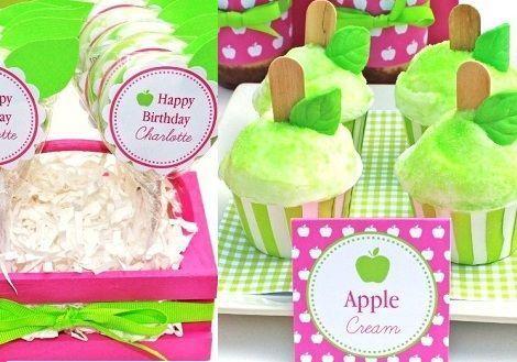 fiesta cumpleanos manzana helados