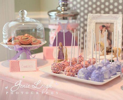 fiesta cumpleanos princesas cake pops