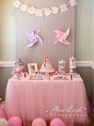 fiesta cumpleanos princesas mesa