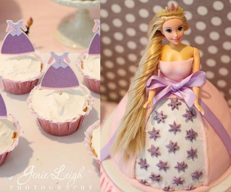 fiesta cumpleanos princesas tarta