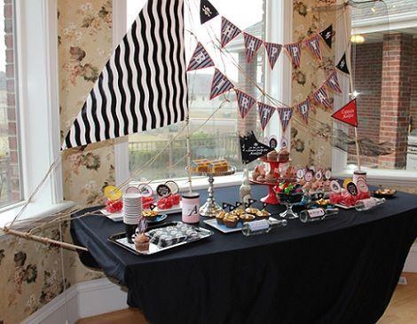 fiesta pirata mesa barco