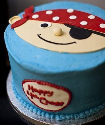 fiesta pirata tarta azul