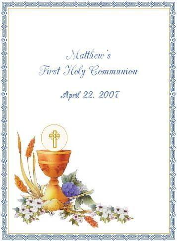 invitaciones comunion clasicas consagracion