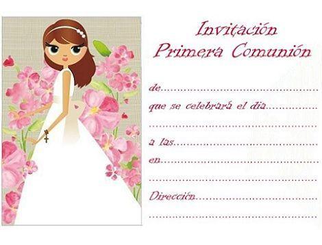 invitaciones comunion imprimir gratis dibujo
