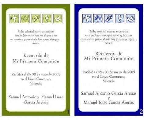 invitaciones comunion imprimir gratis verde