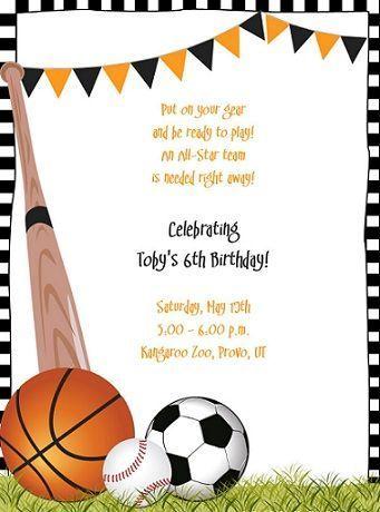 invitaciones cumpleanos deporte