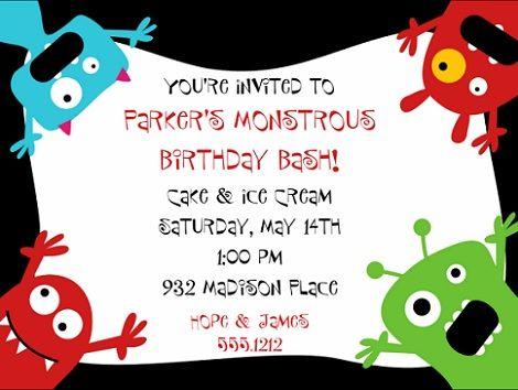invitaciones cumpleanos monstruos