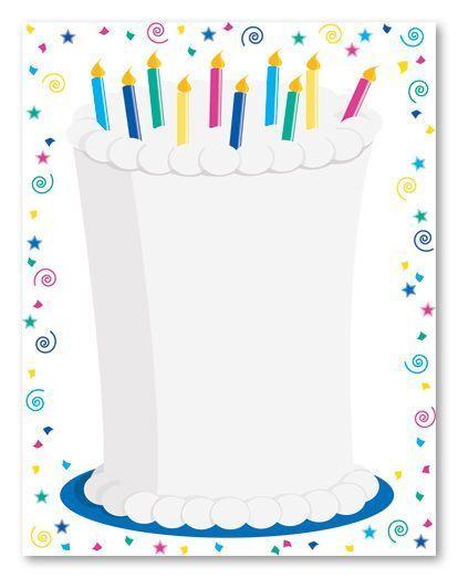 invitaciones cumpleanos tarta velas