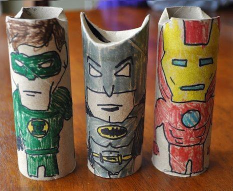 manualidades rollos papel batman