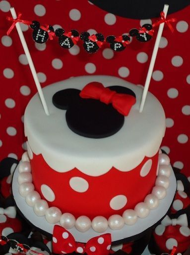 cumpleanos minnie mouse tarta