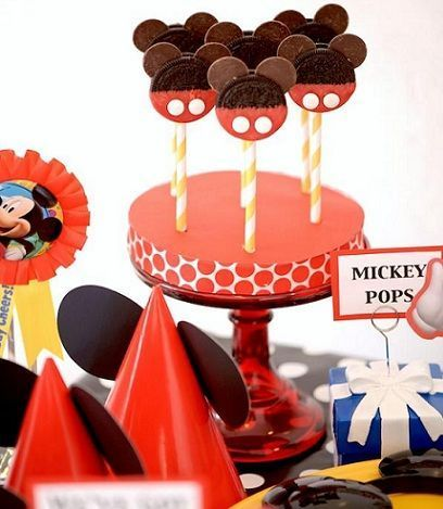 fiesta mickey mouse cake pops