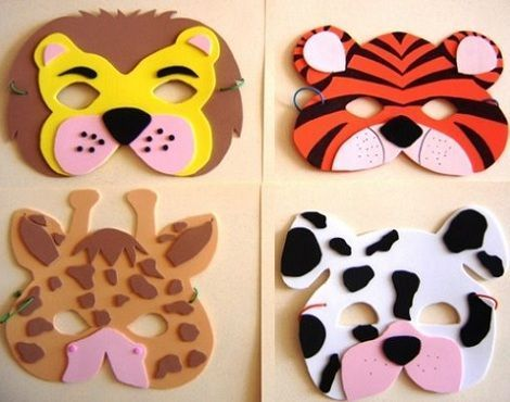 mascaras foam animales