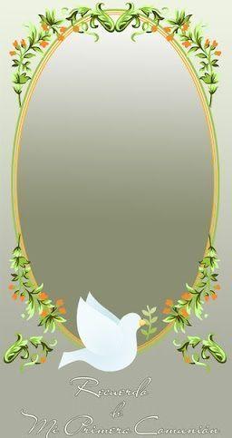 5 invitaciones comunion paloma