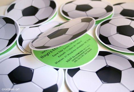 fiesta cumpleanos futbol invitaciones