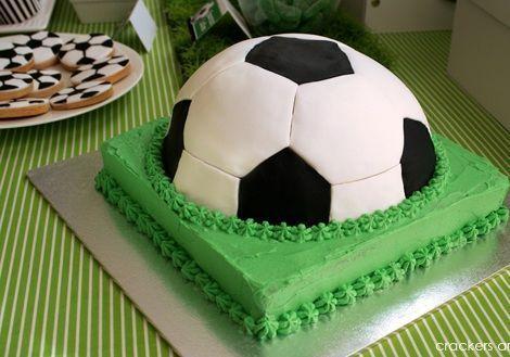fiesta cumpleanos futbol tarta