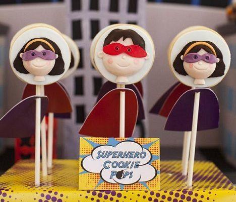 fiesta superheroes cake pops