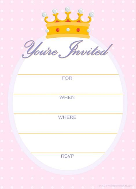 Invitación Princess Party