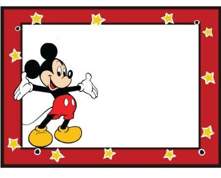 invitaciones cumpleanos mickey mouse estrellas