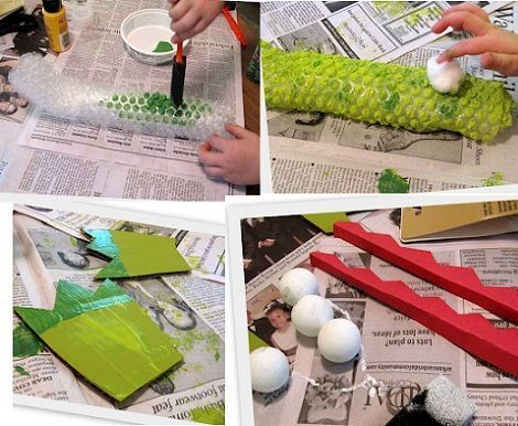 manualidades infantiles cocodrilos pintar