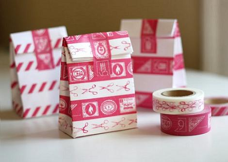 cajas regalo cintas adhesivas