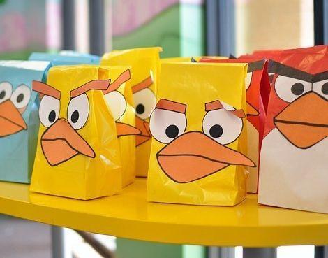 cumpleanos angry birds bolsas